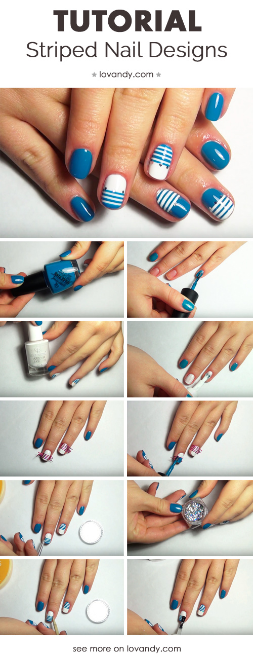 How To Make Striped Nails Designs With Tape