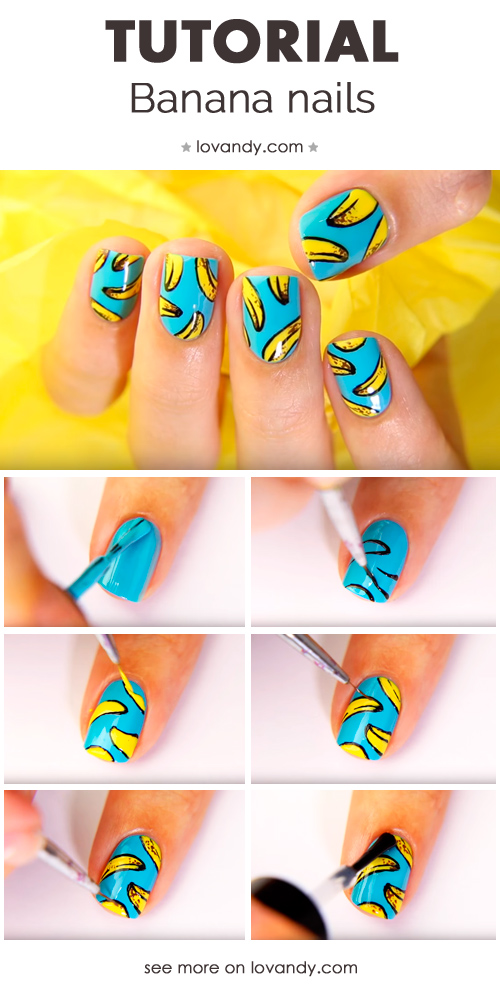 banana nails tutorial