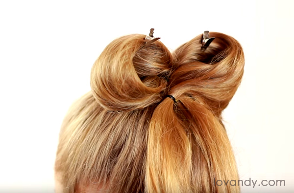 how to make a bow hairstyle with long hair