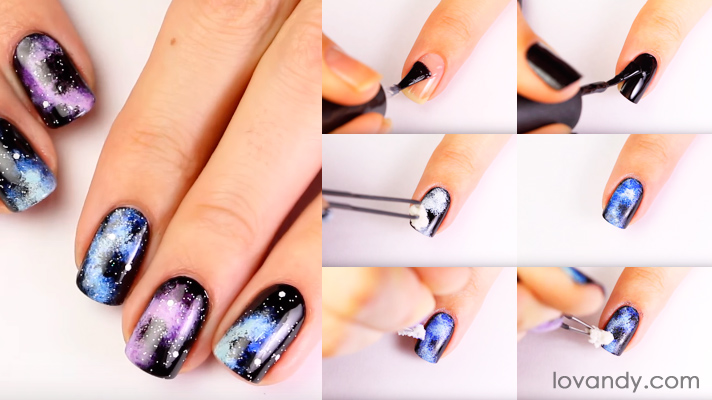 Galaxy Nails Art