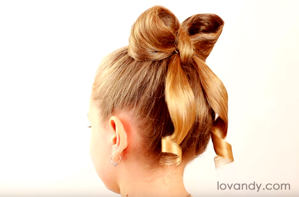 result hair bow hairstyle