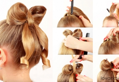 bow hairstyle diy