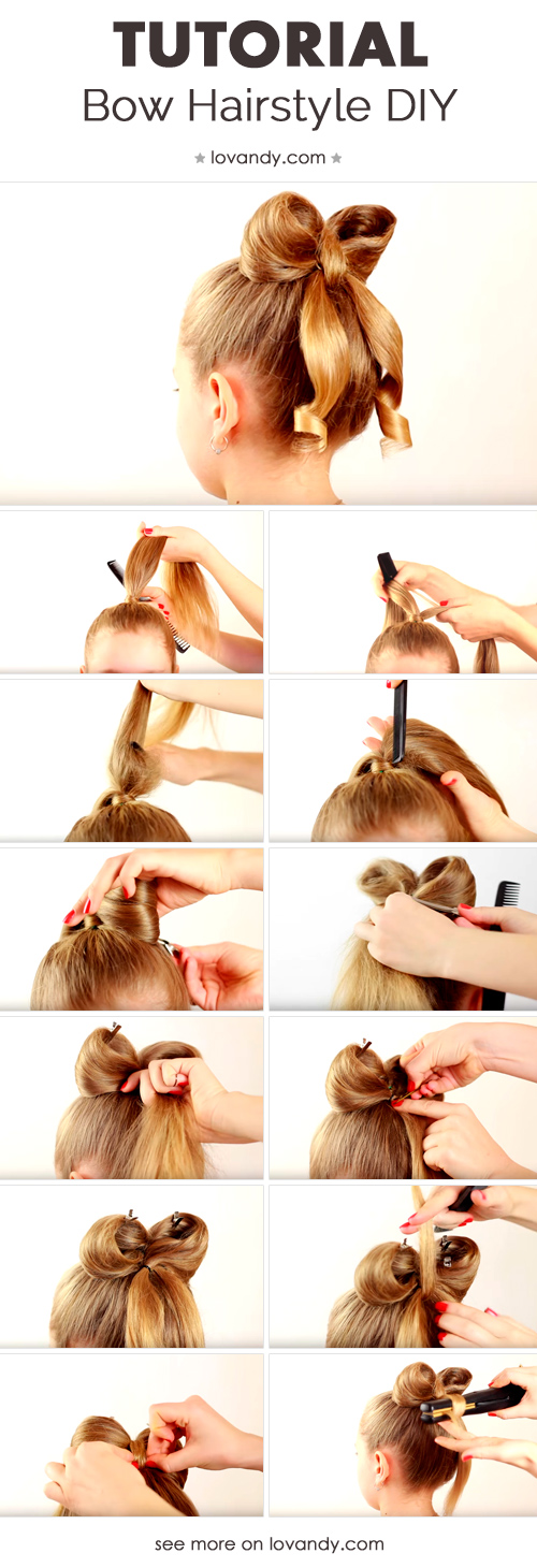 bow hairstyle step by step easy