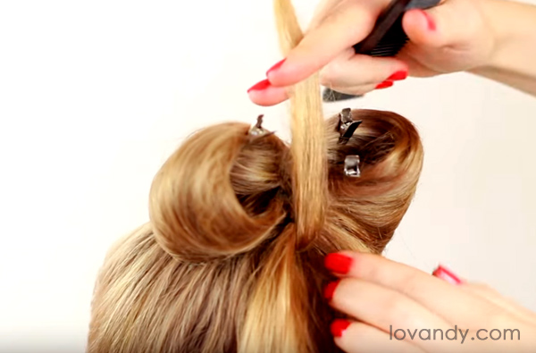make a bouffant from the inside
