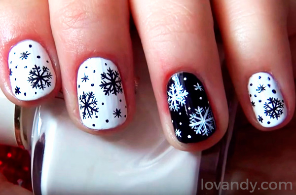 the result of christmas nail art