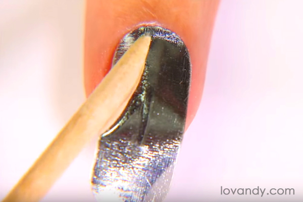 metallic nail polish stickers