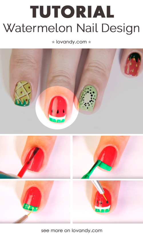 How to make summer fruit and berry nails diy tutorial watermelon tutorial prinsesfo Images