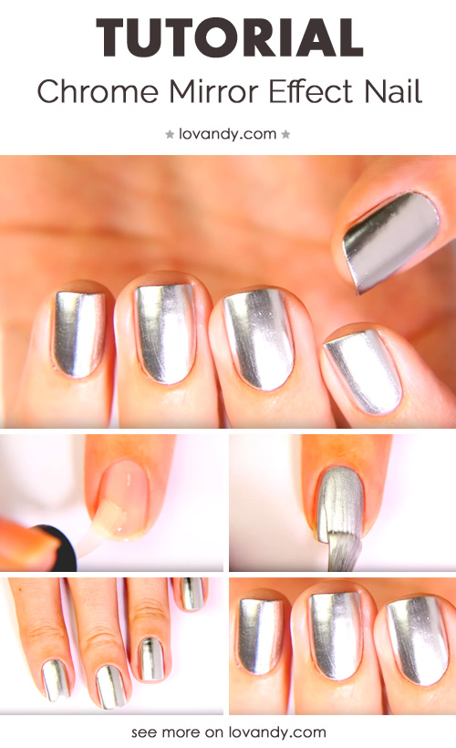 second tutorial for metallic nails