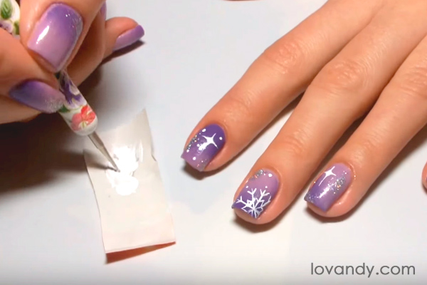 how to paint snowflakes in acrylic