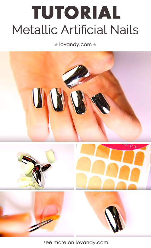 fifth tutorial for metallic nails