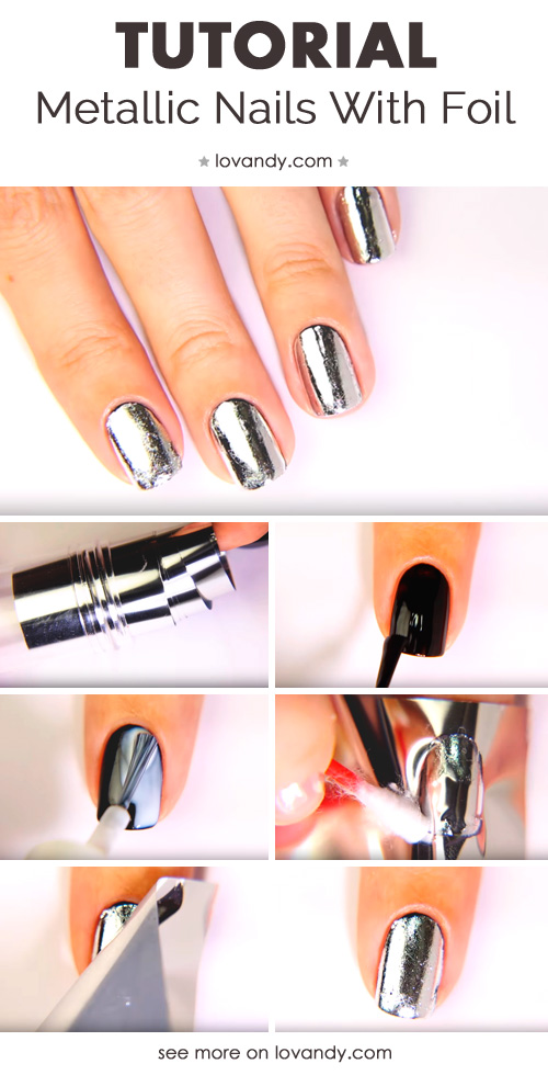 third tutorial for metallic nails