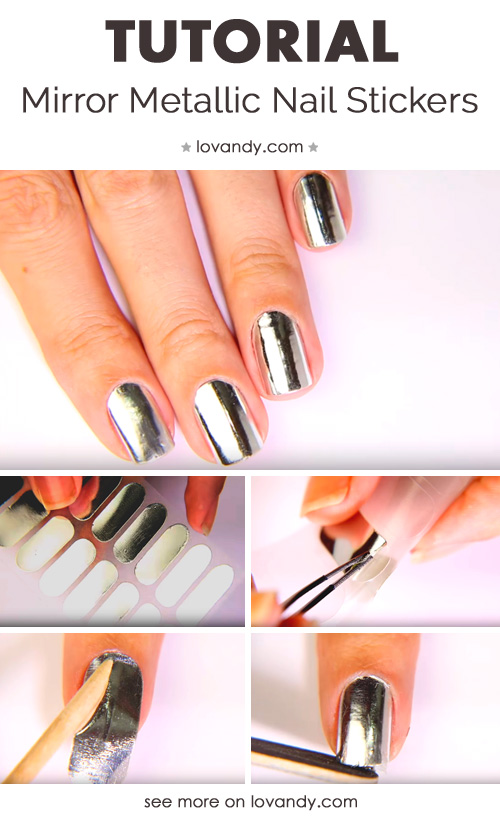 fourth tutorial for metallic nails