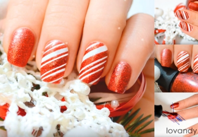 candy cane nails design
