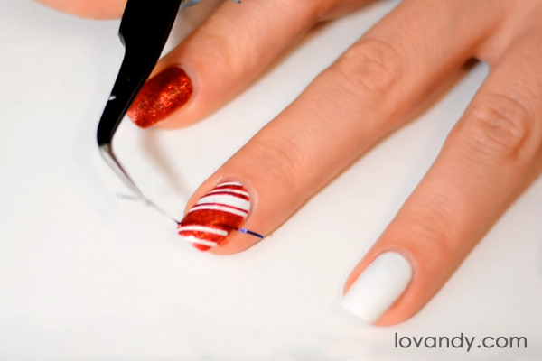 candy cane nails diy