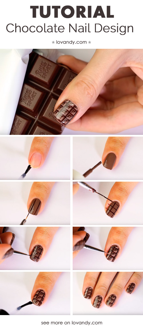 tutorial of chocolate manicure