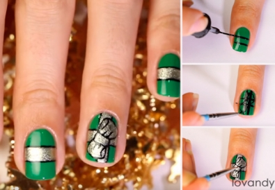 holiday nail art tutorial