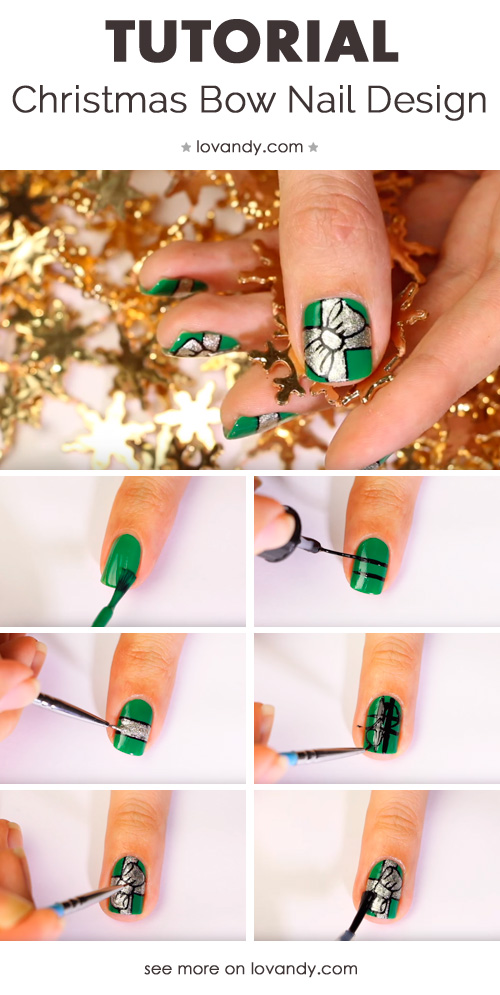 holiday nail art step by step