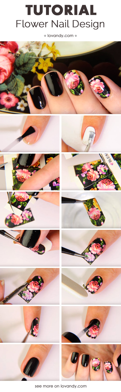 flower manicure looks amazing