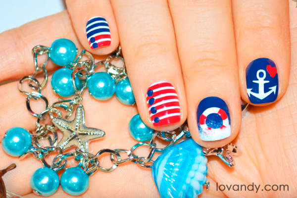 Diy how to make cute anchor nail design these nails look amazing prinsesfo Gallery