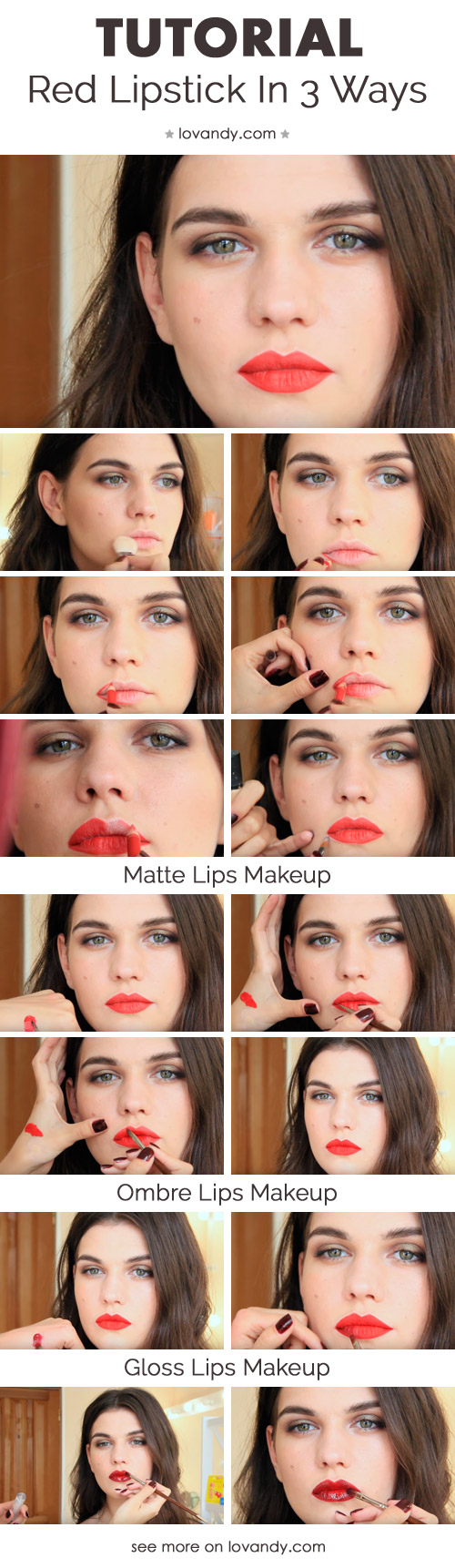 how to put on red lipstick professionally