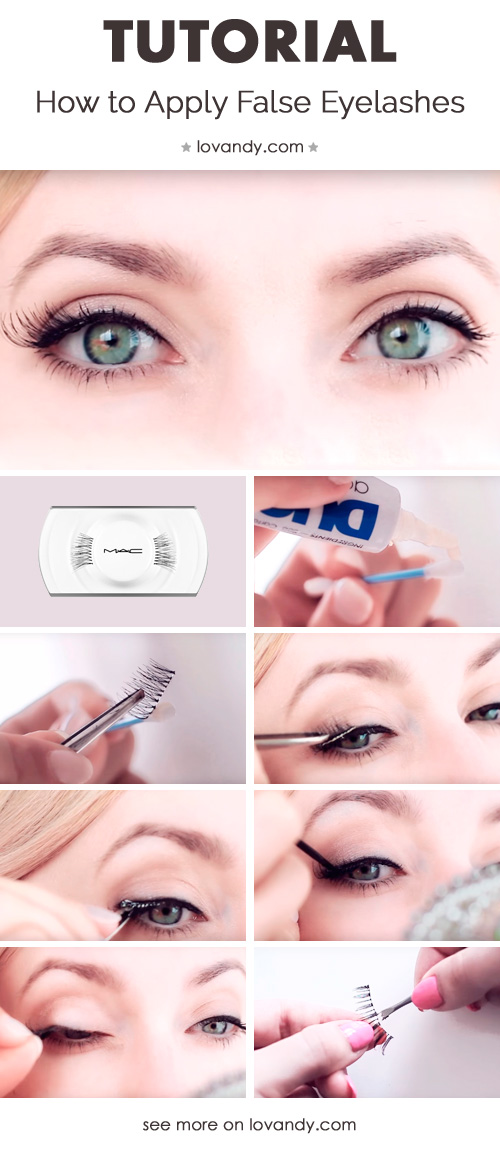 easy tutorial fake eyelashes