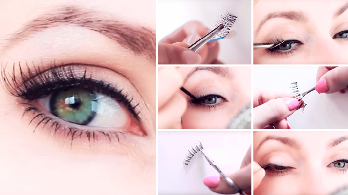 fake eyelashes DIY