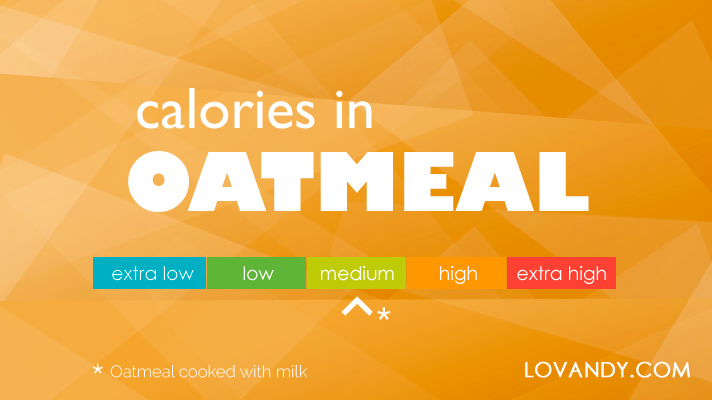 cooked oatmeal calories