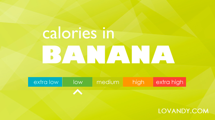 Calories in a banana large medium small and banana chips for How many calories are in fish