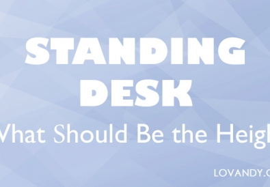 adjusted your standing desk