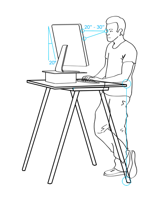 ergonomic stand-up desk