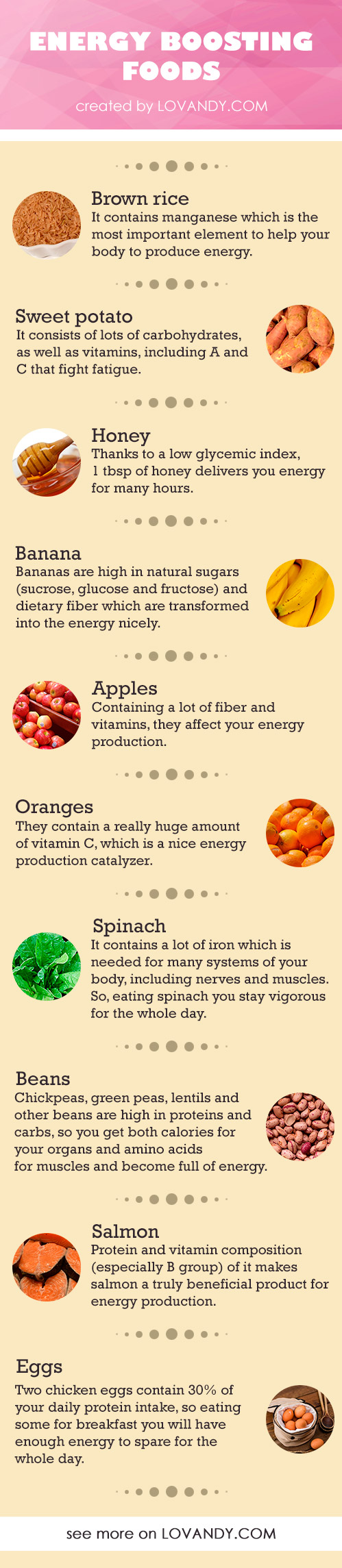 take energy from foods