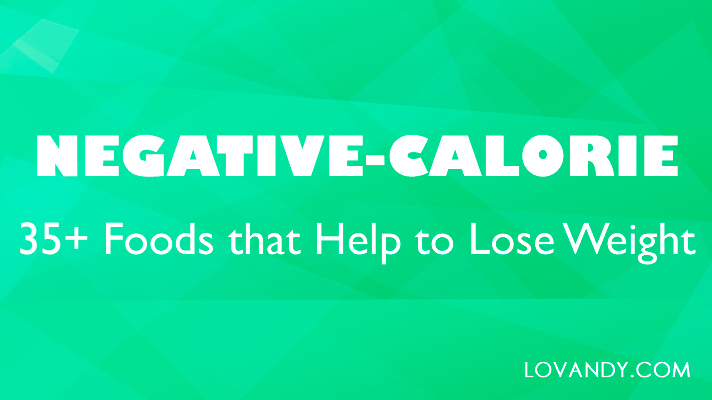 what are negative calorie foods