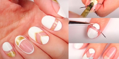Negative Space Nails Design