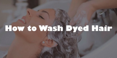 how to wash dyed hair